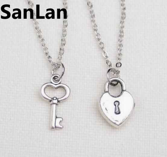3699fe5658 2 best friend lock and key necklaces key to my heart necklace friendship  necklaces gift for