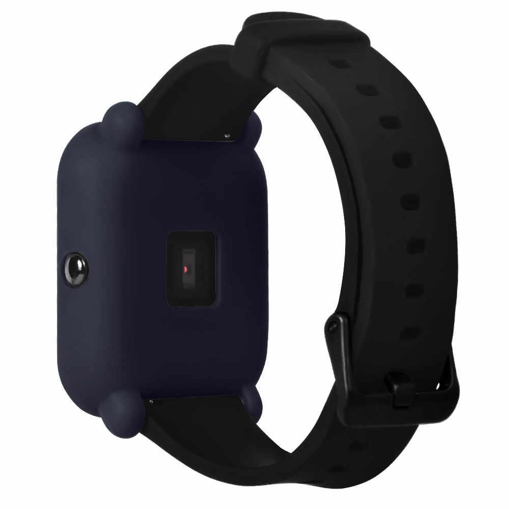 ملحقات ساعة ذكية لينة حماية من مادة البولي يوريثان سيليكون غطاء كامل ل Huami Amazfit بيب الشباب ساعة 2019 Caja دي reloj # T3
