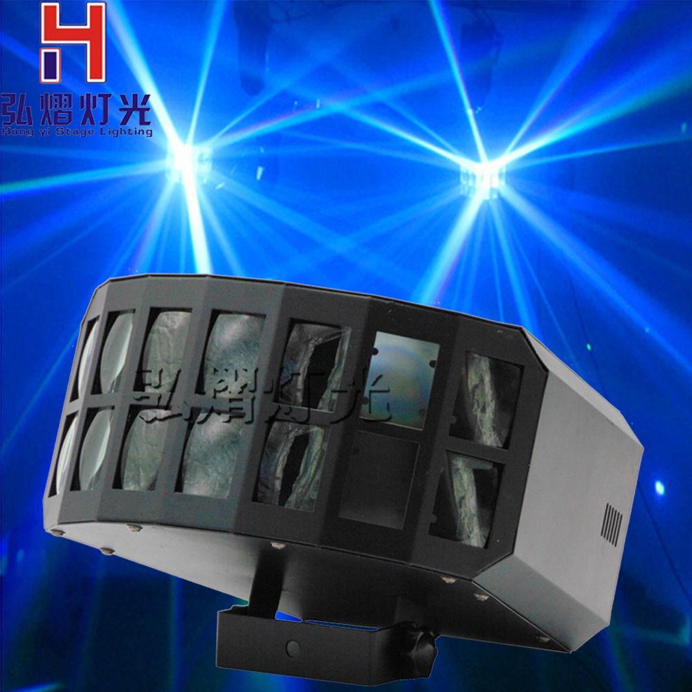 Mini Led 2x10W Stage Light Rgbw Disco Double Butterfly Effect Light Moving Head Stage Effect Light Dmx512 Control Disco Light алексей брайдербик движение