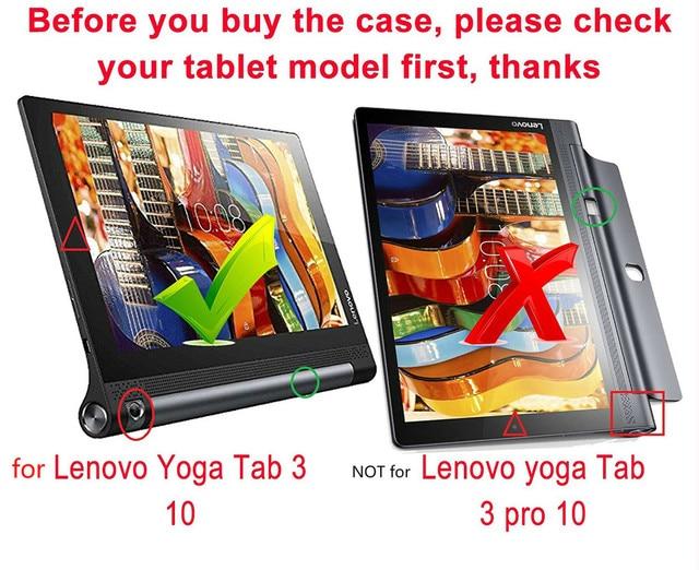 Ultra Slim Funda YOGA Tab 3 10 YT3-X50M YT3-X50f Case Cover for Lenovo YOGA Tab 3 10.1 X50F X50M 10.1 Flip Flio Case ZA0H0064US 1