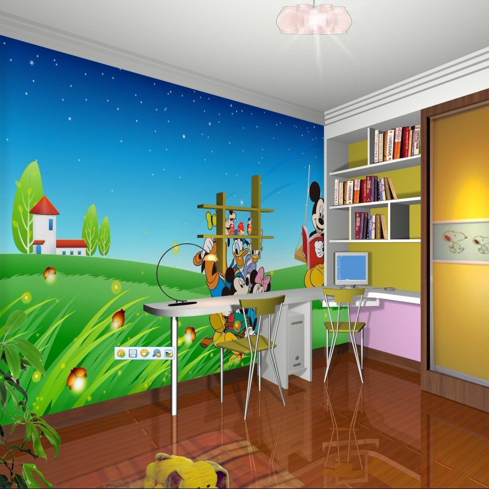 Mickey Mouse Wallpaper For Bedroom Aliexpresscom Buy 2013material Factory Large Murals