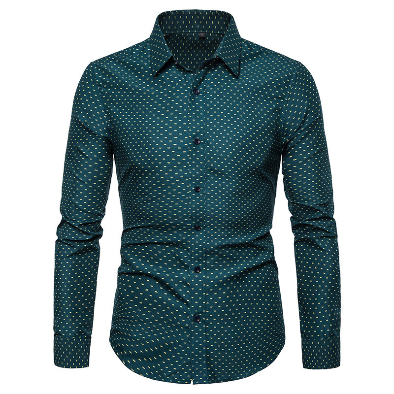 Men Casual Long Sleeved Solid Shirt Slim Fit Male Social Business Dress Shirt Brand Men Clothing Soft Comfortable Plus Size 5XL