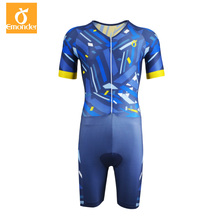 Hot Summer cycling jersey Short Sleeve Cycling Skinsuit Triathlon team Customized Ropa De Ciclismo Maillot