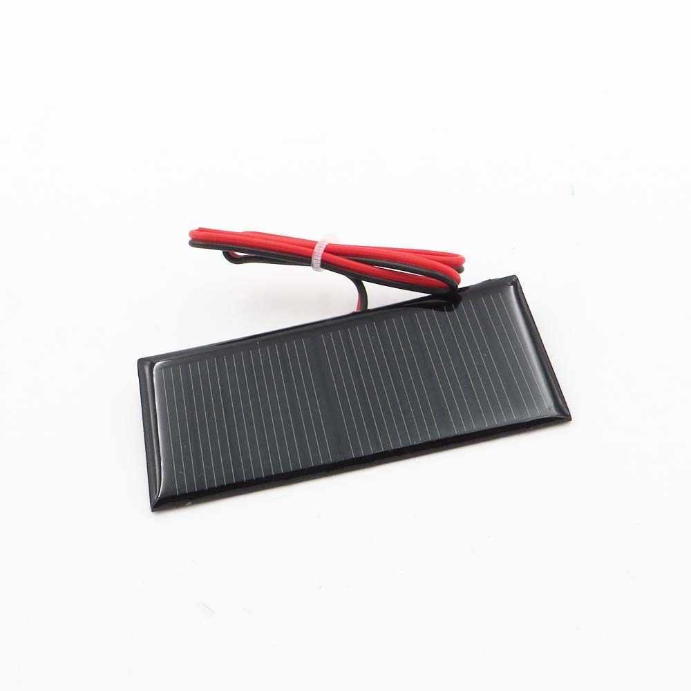 5.5 فولت 0.39 واط لوحة طاقة شمسية الكريستالات السيليكون DIY بها بنفسك شاحن بطارية صغيرة صغيرة الخلايا الشمسية كابل لعبة 5.5 فولت فولت 5 فولت