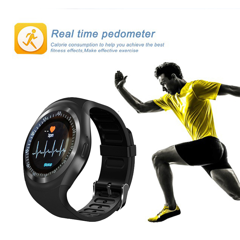 KESHUYOU Sport smart watch TS1 Heart Rate monitor Passometer relogio smart watch men Support SIM TF Card for android phone in Smart Watches from Consumer Electronics