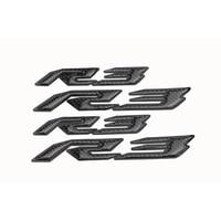 KODASKIN Motorcycle carbon fiber 3D raise emblem sticker decals for Yamaha YZF R3