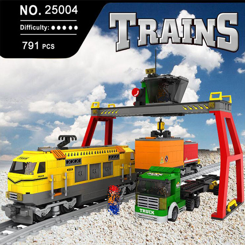 Model building kits city trains rails traffic Educational 3D model building toys hobbies for children gifts Compatible With Lego