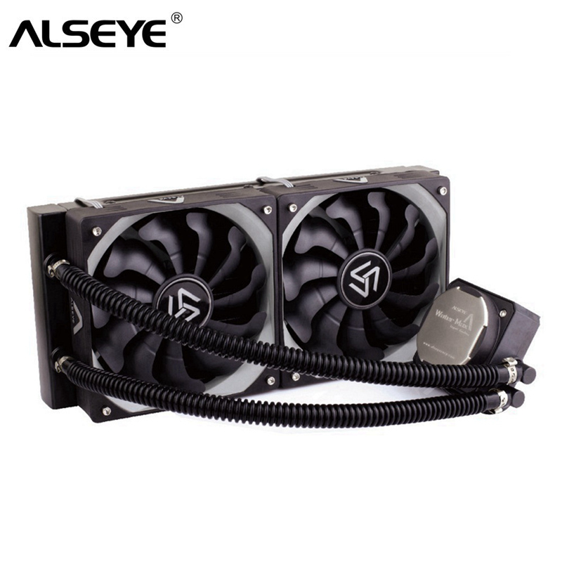 ALSEYE Water Cooler for CPU TDP 320W Dual PWM 120mm fan Processor Water Cooling for LGA115x/1366/2011/AM2/AM3/AM4 пробиолог 180мг 30 капсулы
