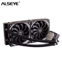 ALSEYE Water Cooler for CPU TDP 320W Dual PWM 120mm fan Processor Water Cooling for LGA115x/1366/2011/AM2/AM3/AM4