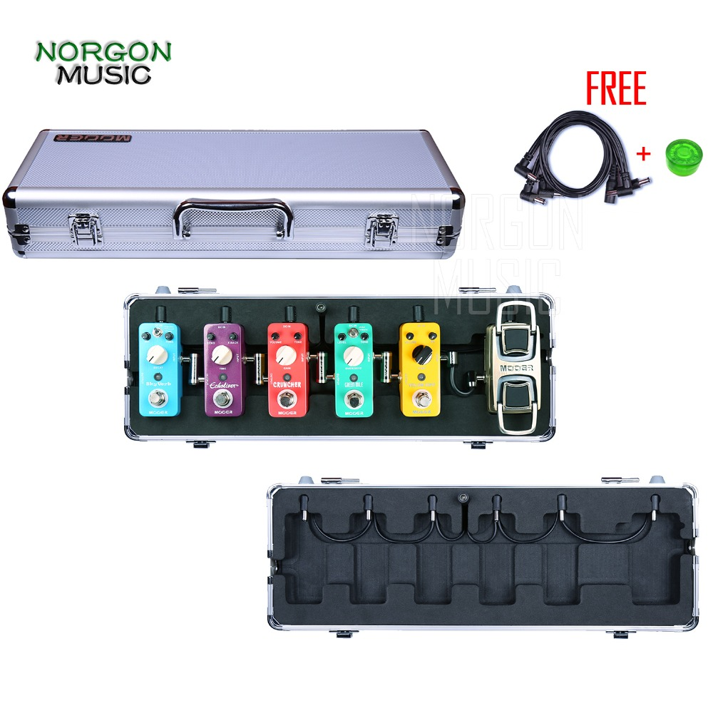 Mooer M6 Flight Case for Electric Guitar Effects Pedal True Bypass Metal Shell Firefly все цены