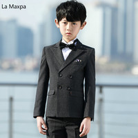 Children 's Suits Boys Three Piece Sets Piano Performance Birthday Party Clothing Black Wedding Formal Pants Coats