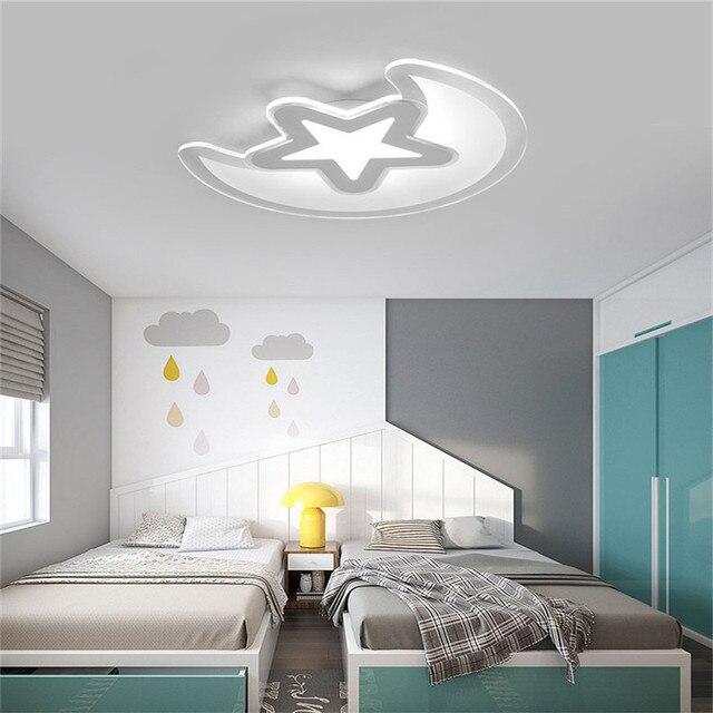 Nowoczesne kreatywny ultra cienki akrylowy star-moom sypialnia lampa sufitowa chłopiec dziewczyna dziecko dziecko pokój lampy sufitowe dla dzieci sypialnia e27