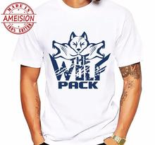 Men T Shirts Fashion Wolf Pack Grunge Retro Design Short Sleeve Casual Tops Hipster Vintage Printed T-Shirt Cool Tee