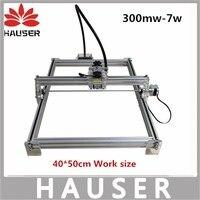 DIY 7 W big power laser graveur, 7 W lasersnijmachine, 40*50 cm, grote werk maat laser graveren machine, laser metalen markering