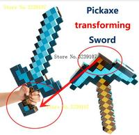 Minecrafter Weapon Action Figure Toy Mosaic Pickaxe Converted Diamond Sword Brinquedos Plastic Minecrafted Cosplay Toy For Kids