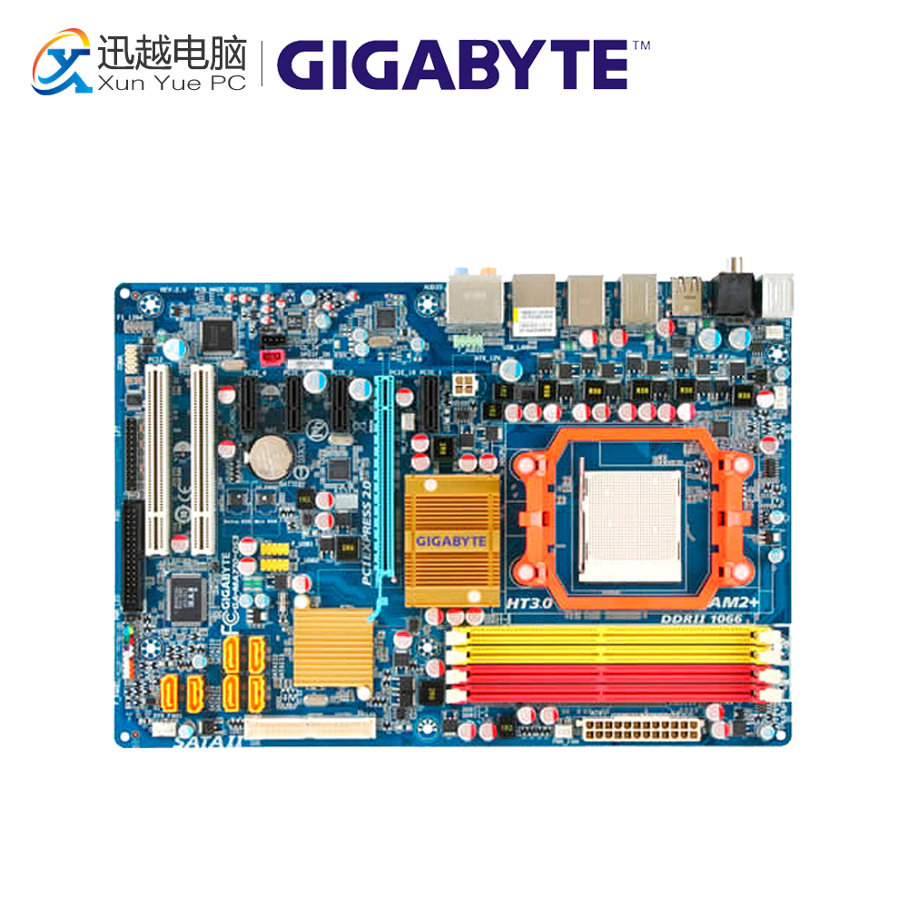 Gigabyte GA-MA770-DS3 Desktop Motherboard MA770-DS3 770 Socket AM2 DDR2 SATA2 USB2.0 ATX for gigabyte ga ma78g ds3hp original used desktop motherboard for amd 780g socket am2 for ddr2 sata2 usb2 0 atx