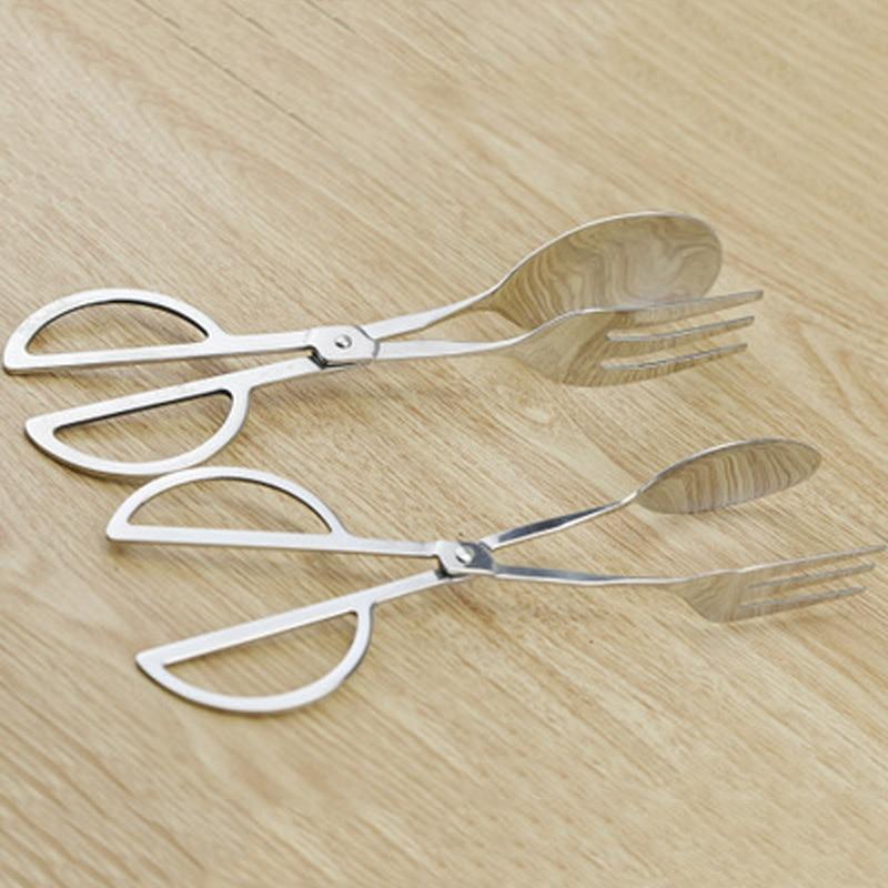1Pcs Kitchen Practical Convenient font b Gadget b font Stainless Steel Scissors Type Food Clip Useful
