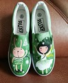 Personalized Hand-Painted Shoes Rabbit Girl Wrapping Foot Pedal Platform Canvas Shoes Women's Shoes Casual Sneakers Men Boots gg