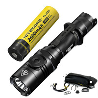NITECORE P26 1000LM LED Infinitely Variable Brightness Tactical Flashlight Rotary Swith Hunting Torch with 18650 Battery