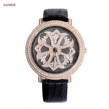 Bonne Chance montre femmes Nouvelle mode résistant à l'eau de quartz femmes montres bracelet en cuir dames du temps montre-bracelet 2017 femelle horloge