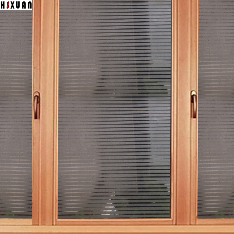 Stripe Partition Decor Window Stickers Sunscreen Papers 45x100cm Frosted  Removable Office Glass Window Film Hsxuan Brand