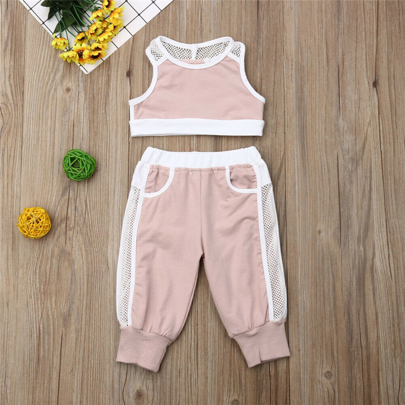 Summer 2pcs Outfits 2019 Pudcoco Newborn Infant Baby Girl Clothes Crop Tops Vest Long Pants Tracksuits baby girl Clothing 1