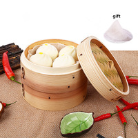 Bamboo Steamer Covers Wooden Food Steamers for Pastry Kitchen Household Stuffed Bun Steamed Healthy Kitchenware 27cm