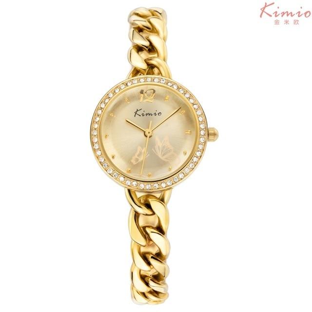 e82df56e45a Kimio watches women top brand luxury gold chain wrist watches for women  Rhinestones crystal ladies quartz watch relogio feminino