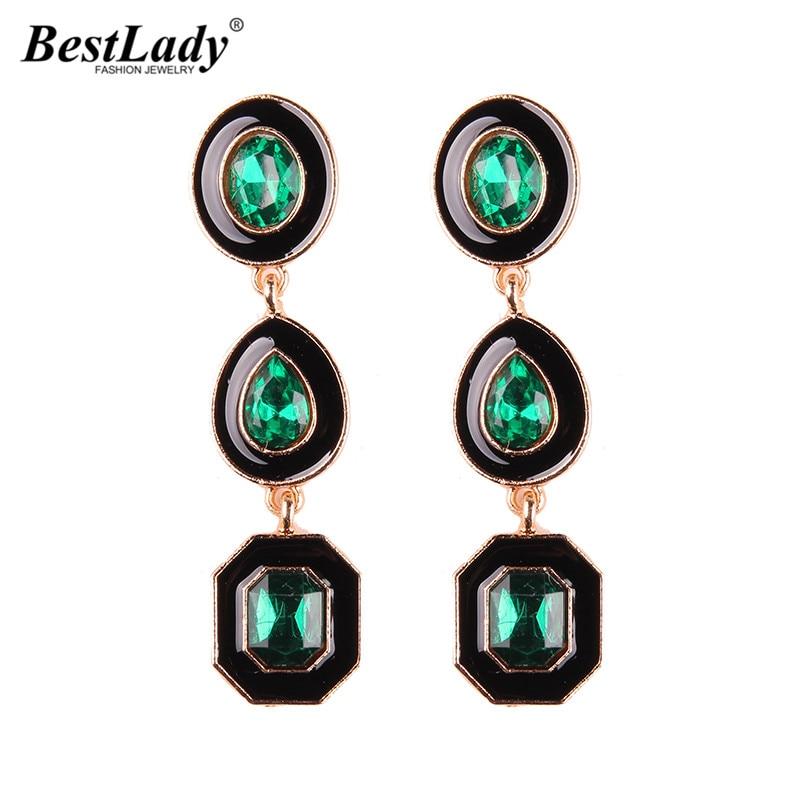 Best lady Bohemian New Fashion Jewelry Colorful Gem Beads Dangle Drop Earrings For Women Wedding Engagement Charm Long Earrings