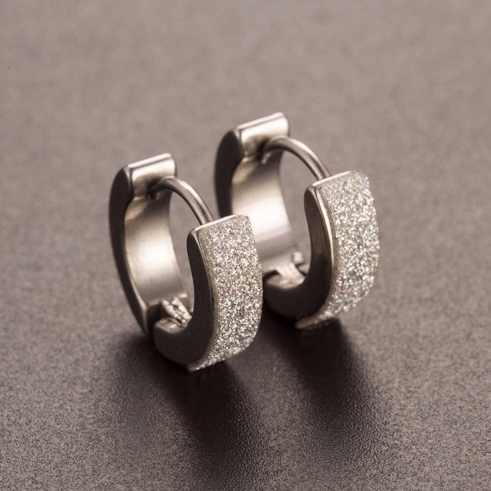 Cool Men's Stainless Steel Punk Earrings