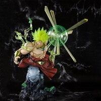 Broli Action model figure anime 23cm Dragon Ball Super Saiyan collection figurine toy PVC kids gift boxed F7412