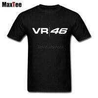 Rossi VR46 Logo Motor GP Tee Shirt Men S Tailored White Short Sleeve Custom XXXL Men