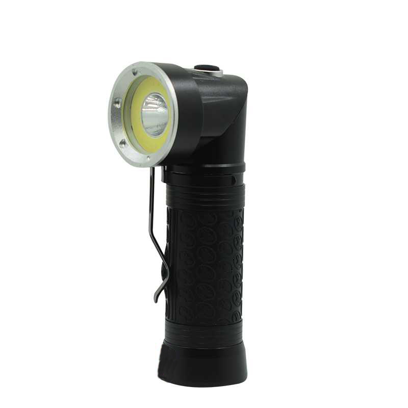 COB Working Light T6 LED Flashlight White Red Camping Lamp 6000 Lumens Flash Light 90 Degree Fold Torch With 18650 Battery