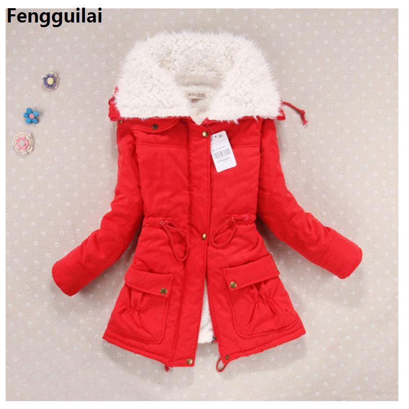 Новинка, зимнее пальто для женщин, тонкая, плюс размер, верхняя одежда, средней длины, стеганая куртка, толстая, с капюшоном, хлопок, ватные, т...