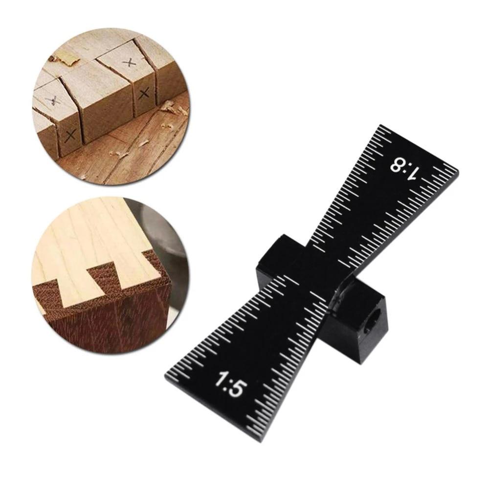 Black Woodworking Dovetail Marker Marking Gauge to Hardwood /& Softwood Aluminum