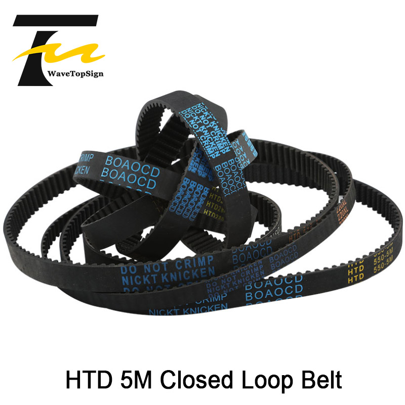 Closed Rubber Synchronous Belt <font><b>HTD5M</b></font> Pitch Length 250mm 255mm 260mm 265mm Belt Width 15 20 25mm Router Machine image