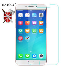 все цены на 2PCS Screen Protector Glass OPPO R11 Plus Tempered Glass For OPPO R11 Plus Glass R11 Plus Anti-scratch Phone Film HATOLY онлайн