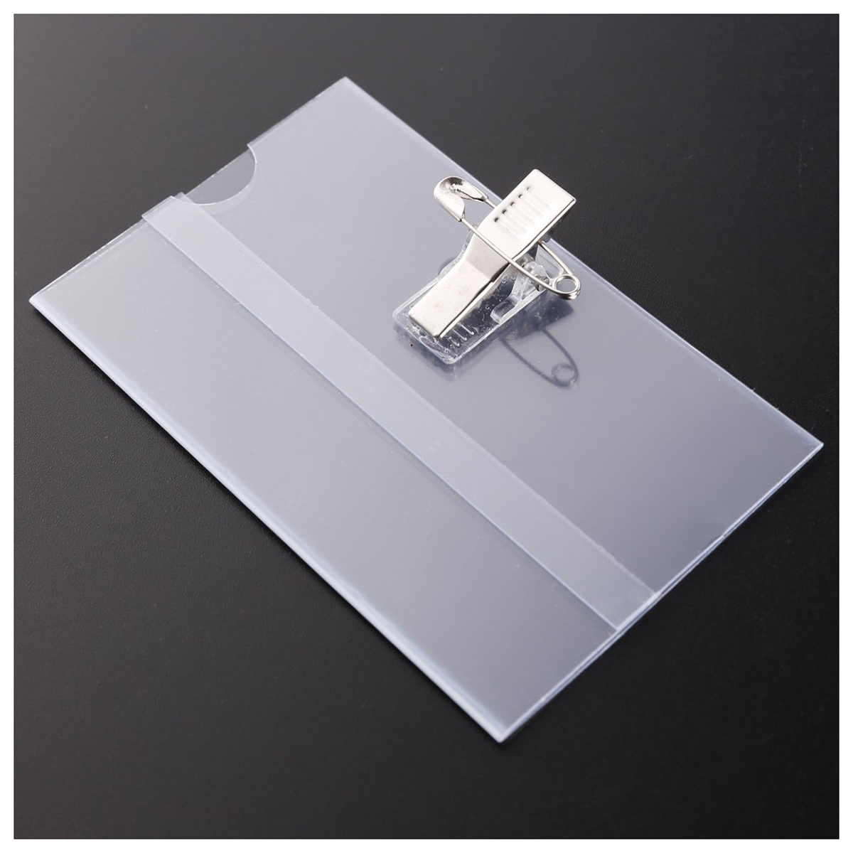 LJL clerk working ID card holder Exhibition identification card cover tag Transparent Plastic