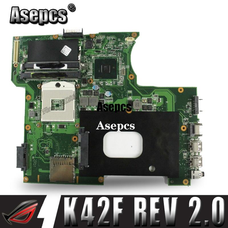K42F 改訂 2.0 GMA HD USB2.0 HM55 PGA989 DDR3 ビデオメモリメインボード asus K42F マザーボード P42F 100% 完全にテスト  グループ上の パソコン & オフィス からの マザーボード の中 1