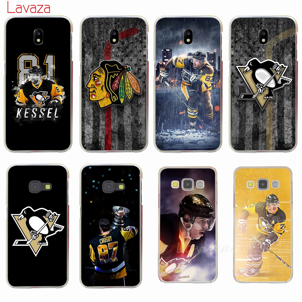 Lavaza Penguins NHL Ice Hockey Sports Hard Cover Case for Samsung Galaxy J7 J1 J2 J3 J5 2015 2016 2017 Prime Pro Ace 2018 Case
