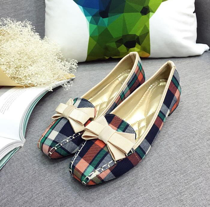 Plus-Size-35-42-Fashion-Women-s-Shoes-2018-Spring-New-Women-Flats-Plaid-Cotton-Fabric (4)