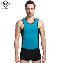 150300219ec Wechery Neoprene Slimming Sweat Vest Body Shaper For men Plus Size  Shaperwear With Zipper Promote Swaet Lose Weight Sauna Tops