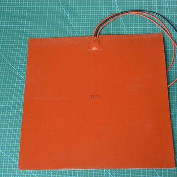 12V 300W Square Silicone Rubber Heater Mat 300 x 300mm for Reprap 3D printer silicone rubber heating plate mat sheet
