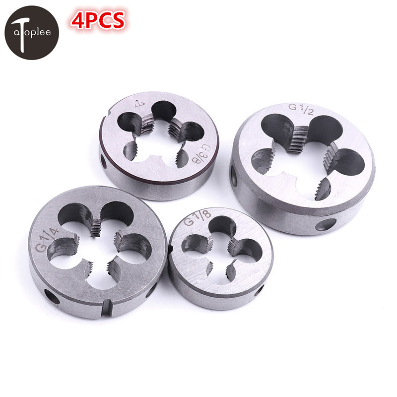 4PCS G1/2 G1/4 G1/8 G3/8 Threading Die HSS Pipe Standard Die Threading Tools For Water Pipe Thread Mold Machining free shipping 1pc alloy steel made bsp die g1 2 14 pipe threading dies threading tools for bsp standard pipe threading work
