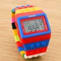 1pcs LED Watch Coloful Stripe Unisex New Sports Watches Shhors Rainbow watch Digital Hour Wristwatch