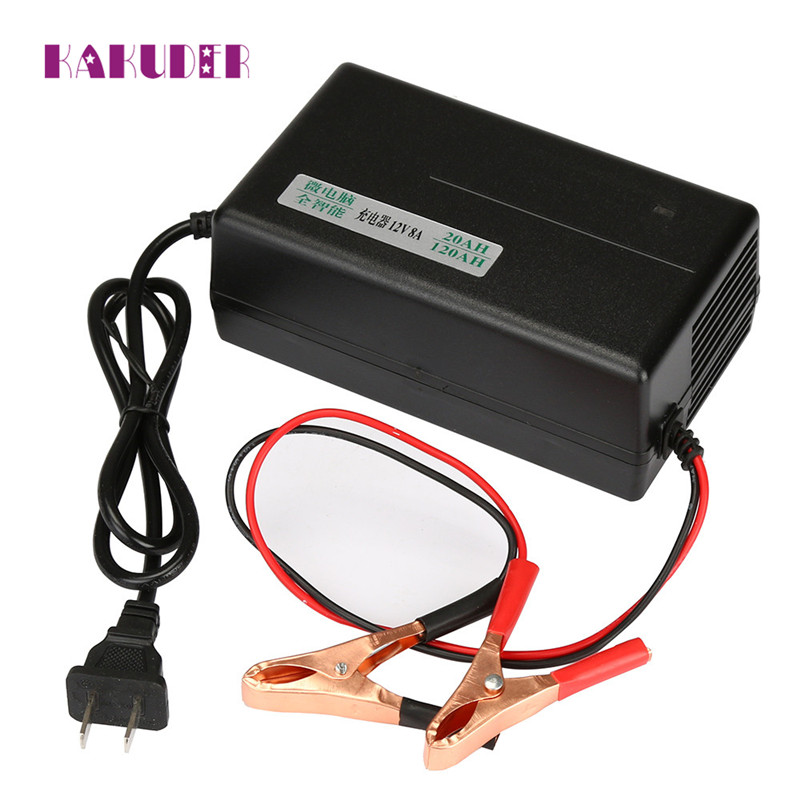 2017 new New 12V 8A Smart Fast Lead-acid Battery Charger for Car Motorcycles Trucks drop shipping charger june13