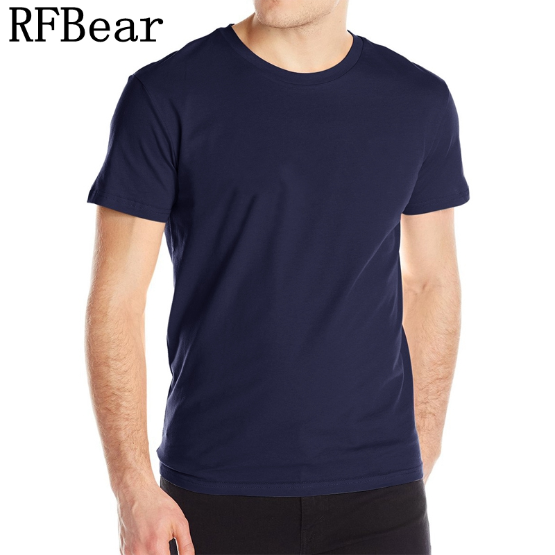 RFBEAR brand man cotton Casual   t     shirt   2017 new fashion summer   T  -  shirt   Men o-neck comfortable homme Short sleeve Pure color