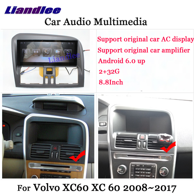 Liandlee Android For Volvo Xc60 Xc 60 2008 2017 Stereo Radio Carplay Parking Camera Tv Wifi Aux Gps Navi Navigation Multimedia