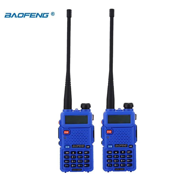 Image 5 - BaoFeng walkie talkie UV 5R 2pcs/lot two way radio baofeng uv5r 128CH 5W VHF UHF 136 174Mhz & 400 520Mhz-in Walkie Talkie from Cellphones & Telecommunications