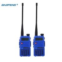 128ch 5w vhf uhf מכשיר הקשר Baofeng UV-5R 2pcs / הרבה שני הדרך רדיו Baofeng uv5r 128CH 5W VHF UHF 136-174Mhz & 400-520Mhz (5)